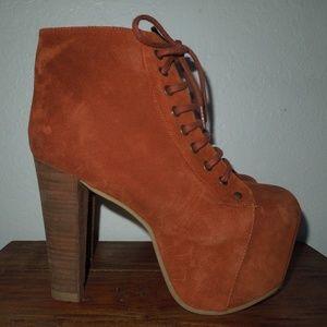 Jeffrey Campbell Suede Lita Boots 9